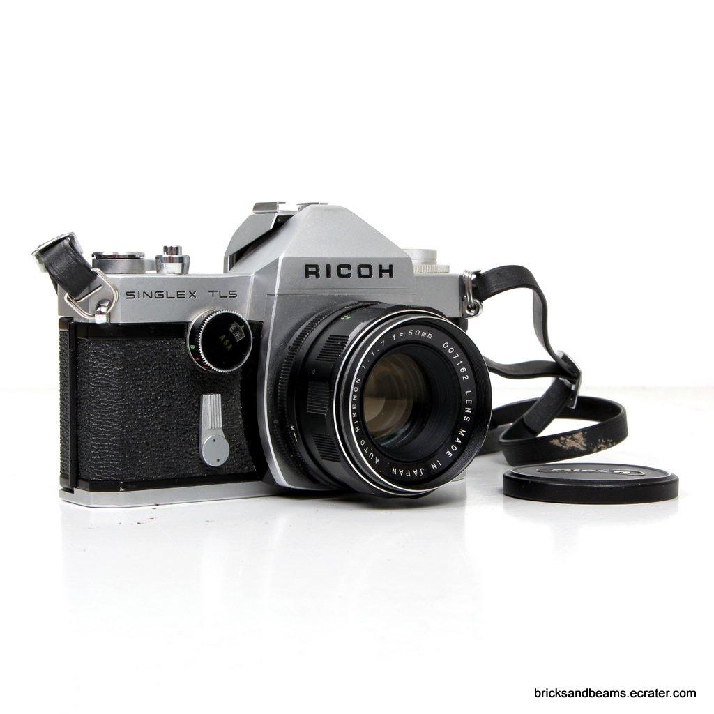 RICOH Singlex TLS SLR Film Camera 35MM FILM CAMERA with 1:1.7 50mm Lens