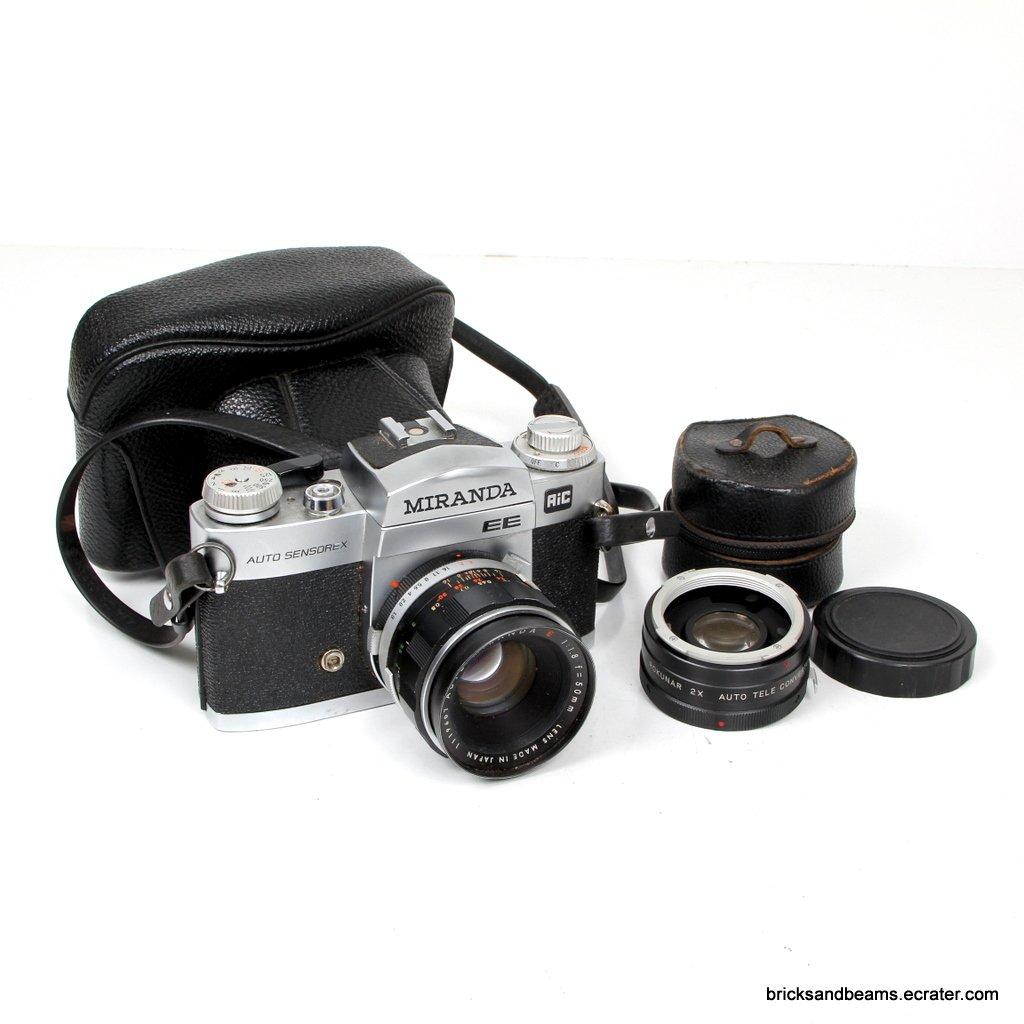 Vintage Miranda Auto Sensorex EE Camera for Repair w Lens Case 2X Teleconverter