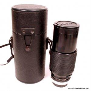 Canon FD Mount Vivitar Series 1 70-210mm f 3.5 VMC Macro Zoom Lens w Hard Case