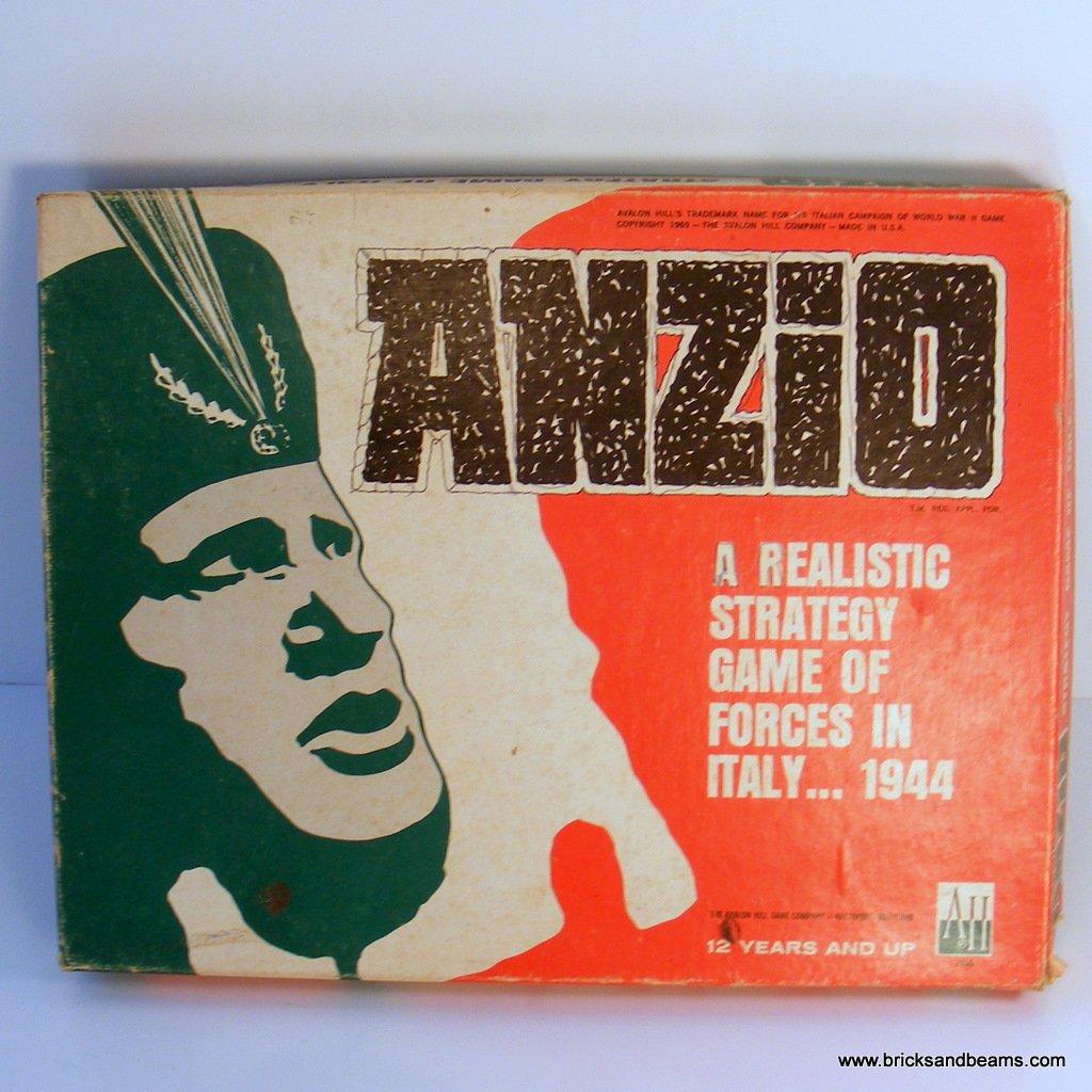 Avalon Hill Anzio WW II Board Game 704 Flat Large Box 1969