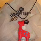 Ribbon deer necklace #AN007