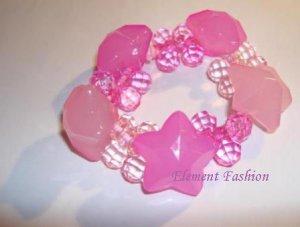 Pink Star Bracelet /Hair Tie #AH001