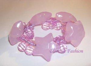 Purple star Star Bracelet /Hair Tie #AH001
