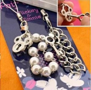 Mickey x Minnie key & lock pair straps