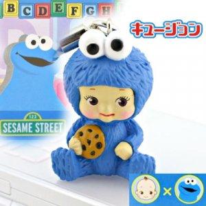Kewpie x Cookie Monster cell phone strap