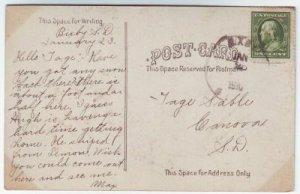 Bixby South Dakota Cancel on Postcard DPO 1895-1951 Perkins County Free Shipping!!