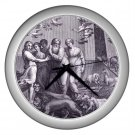 NOAH and his Family - 10 inch Wall Clock Silver Finish