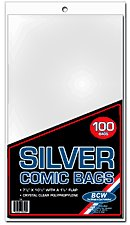 BCW 1000ct (Case) Silver Comic Bags
