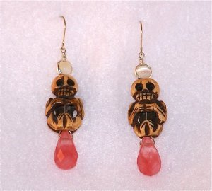 Skull & Bead Earrings