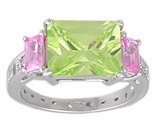 CUBIC ZIRCONIA CZ .925 STERLING SILVER RING SIZE 5 or 6