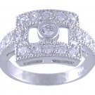 CLEAR CUBIC ZIRCONIA CZ VINTAGE STYLE RING SIZE 5 6 7 8 9