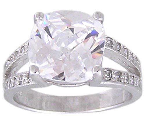 CUBIC ZIRCONIA CZ STERLING SILVER RING SIZE 6 7 8 or 9
