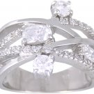 CZ CUBIC ZIRCONIA STERLING SILVER RING SIZE 6 7 or 8