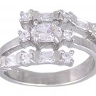 CUBIC ZIRCONIA CZ .925 STERLING SILVER RING SIZE 7 or 8