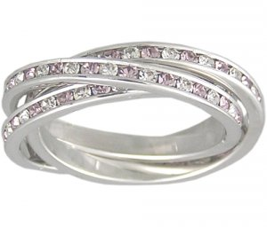 LAVENDER CUBIC ZIRCONIA ROLLING RING SIZE 5 6 7 or 9