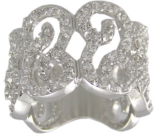 CLEAR CUBIC ZIRCONIA CZ RING SIZE 7 or 9 JEWELRY