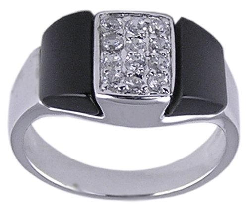 BLACK CUBIC ZIRCONIA CZ FASHION RING SIZE 6 7 or 8