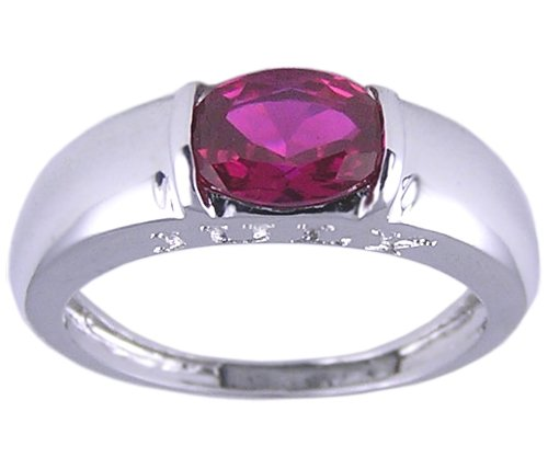 RUBY RED CUBIC ZIRCONIA CZ RING SIZE 5 6 7 9 or 10