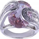 PURPLE CUBIC ZIRCONIA CZ RING SIZE 6 7 8 or 9 JEWELRY
