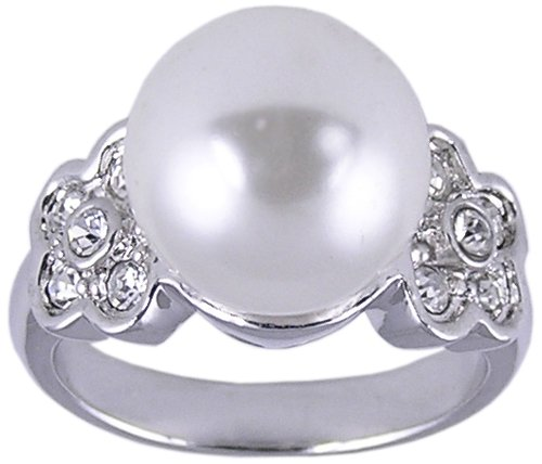CZ & SYNTHETIC PEARL RING SIZE 7 8 or 10 JEWELRY