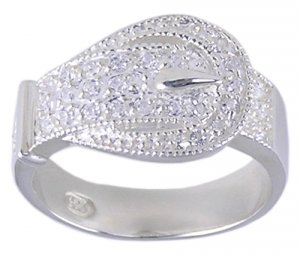 CUBIC ZIRCONIA CZ .925 STERLING SILVER RING SIZE 7