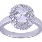 Oval Pave CUBIC ZIRCONIA CZ RING SIZE 9 FASHION JEWELRY
