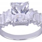 CLEAR CUBIC ZIRCONIA CZ RING SIZE 7 or 8 JEWELRY