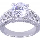 CLEAR CUBIC ZIRCONIA CZ SOLITAIRE RING SIZE 7 JEWELRY