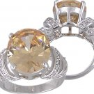 CHAMPAGNE CUBIC ZIRCONIA CZ RING SIZE 7 or 10 JEWELRY