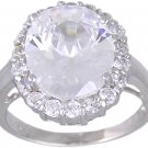 CUBIC ZIRCONIA CZ STERLING SILVER RING SIZE 6 7 or 8