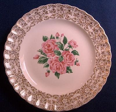 Sebring pottery! 3 Dinner plates 22k Gold Inlay! NM! A+