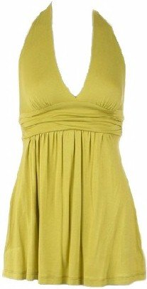 Pear Green Empire Waist Halter Top  Small