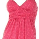 Tami Fuchsia Polka Dot Top Small