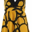 Zelda Yellow Sleeveless Tie Back Top Large