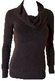 Brown Cowl Neck Sweater Top Large