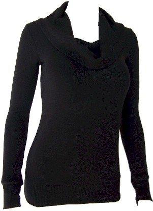 Black Cowl Neck Sweater Top Medium