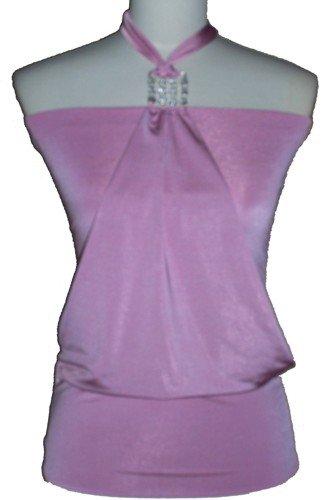 Cassie Pink Halter Top Large