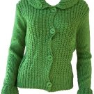 Elizabeth Green Button Sweater Large