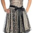 Black Victorian Lace Cocktail or Special Occasion Dress XLarge