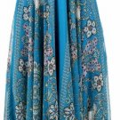 Blue Print Detailed Bottom Halter Dress Medium