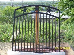 CUSTOM WROUGHT IRON GARDEN GATE *ORNAMENTAL IRON*
