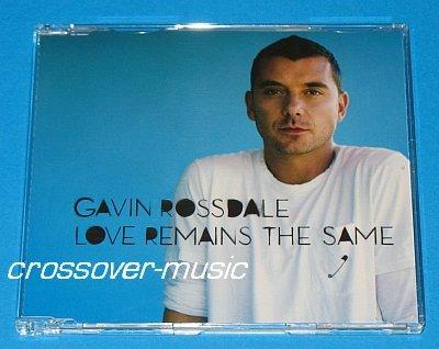 GAVIN ROSSDALE Love Remains The Same GER 4-TRK CD 2008