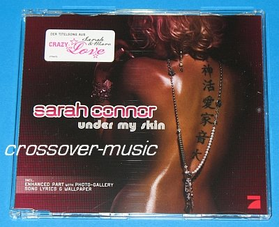 SARAH CONNOR Under My Skin 4-TRK CD SINGLE 2008 REMEE