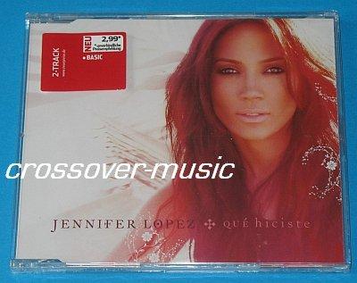 JENNIFER LOPEZ Que Hiciste GERMAN 2-TRCK CD 2007 sealed
