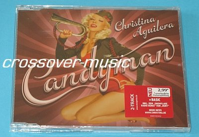 CHRISTINA AGUILERA Candyman GERMAN 2-TRCK CD Hurt REMIX