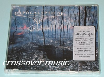 APOCALYPTICA Life Burns GER CD SINGLE THE RASMUS sealed