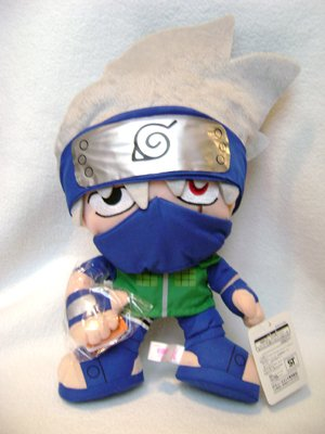 Naruto Anime Kakashi w/Book Plush