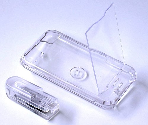 iphone Hard Crystal Clear Case with Cover (Clear) + Belt Clip