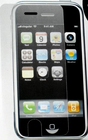 iPhone Ipod Touch Screen Protector Film Crystal Clear Plastic Transparent Skin