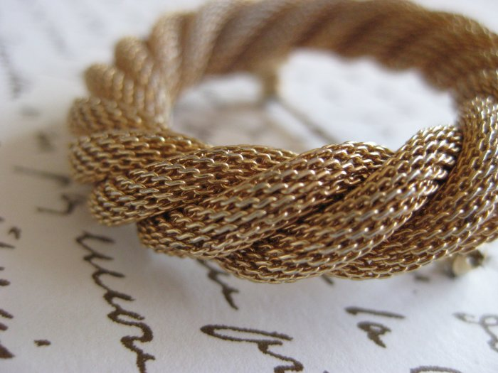 Golden Twist Brooch